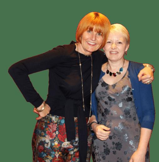 Mary Portas with Christine Nicholson